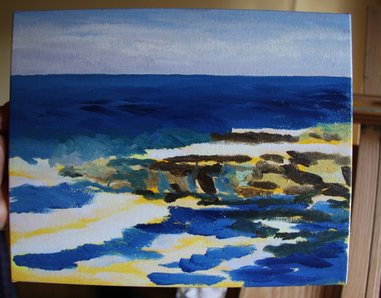 Salish Sea 3 original oil painting by Terrill Welch (3/6)