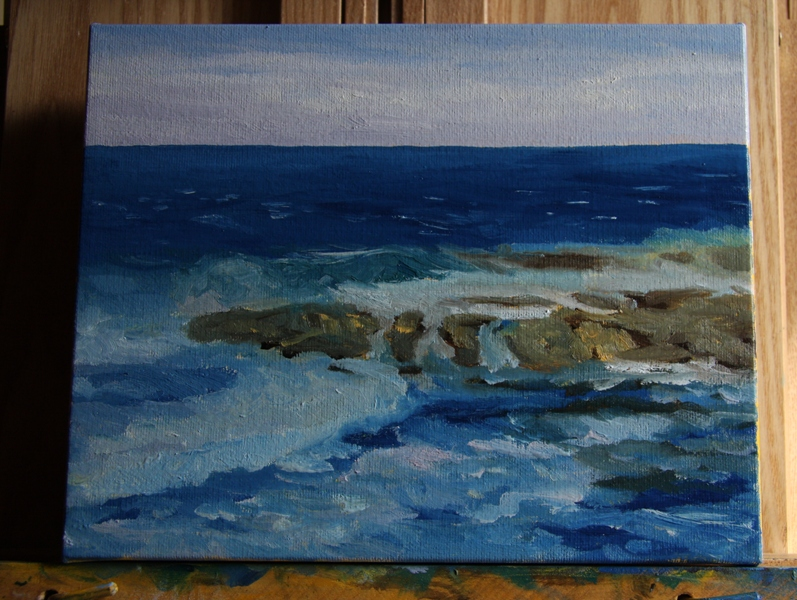 Salish Sea 3 original oil painting by Terrill Welch (4/6)