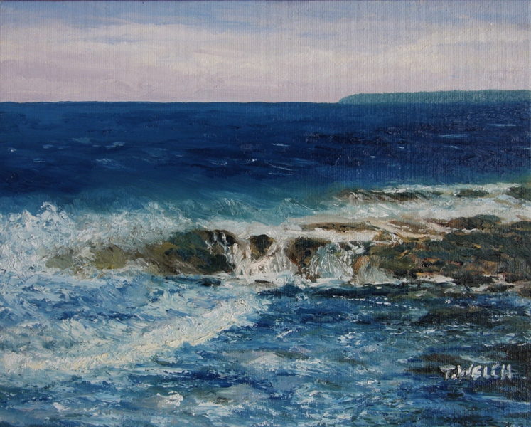 Salish Sea 3 original oil painting by Terrill Welch (5/6)