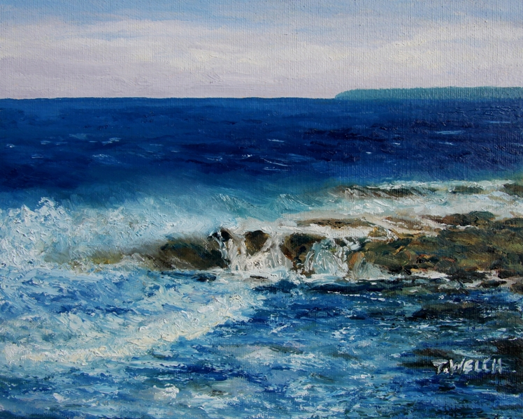 Salish Sea 3 original oil painting by Terrill Welch (6/6)
