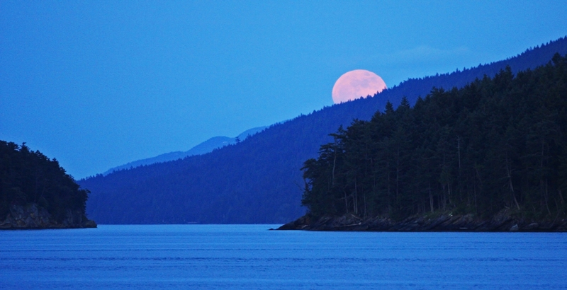 Mayne Island Super moon on May 5 2012 (6/6)