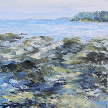 At The Beach 12 x12 inch oil on canvas by Terrill Welch  IMG_1121