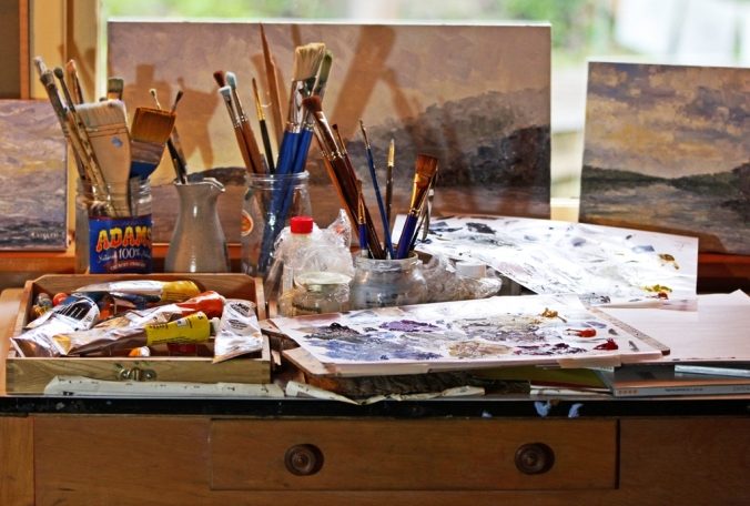 Artist's studio table by Terrill Welch 2013_02_03 005