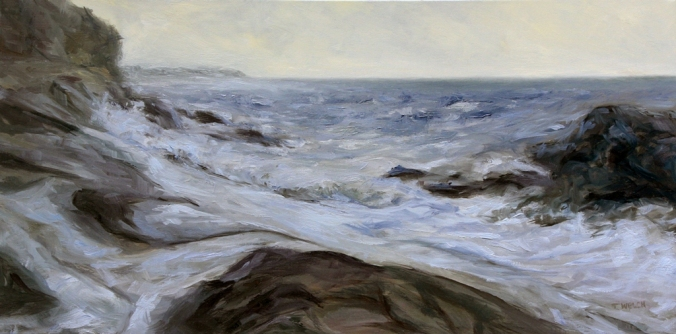 Rhythm of the Sea Edith Point resting 20 x 40 inch oil on canvas by Terrill Welch 2013_03_14 015