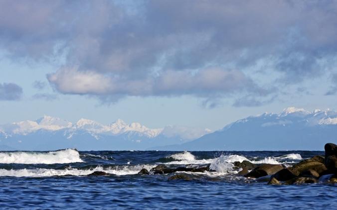 West Coast Blues rolling waves Oyster Bay Mayne Island by Terrill Welch 2013_03_03 094