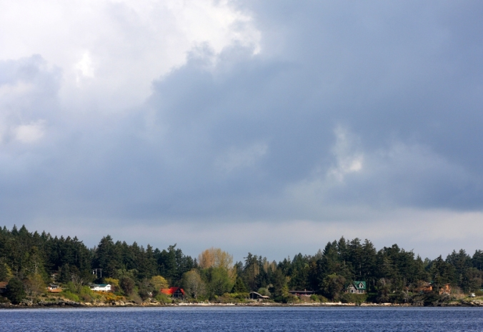Galiano Island in the sun with storm clouds behind by Terrill Welch 2013_04_14 048