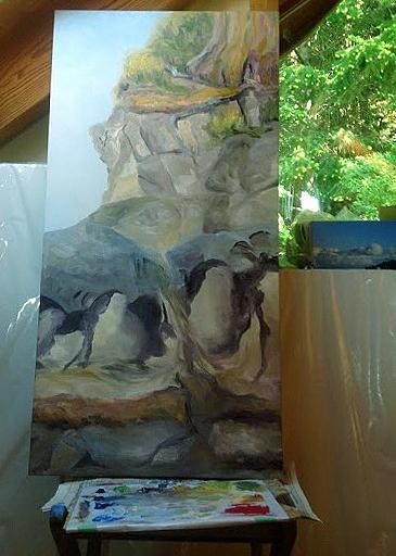 The Edge 48 x 24 chilling back in loft studio E7C16EC0-1691-4E3C-82E0-32502C2CD411