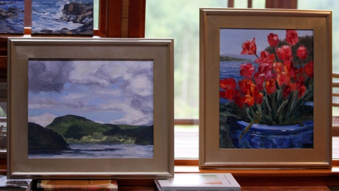 Pair of paintings going to art collector by Terrill Welch 2013_08_11 115