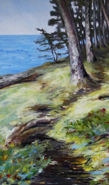 Seaside Mayne Island resting 60 x 36 inch oil on canvas by Terrill Welch 2013_09_11 048