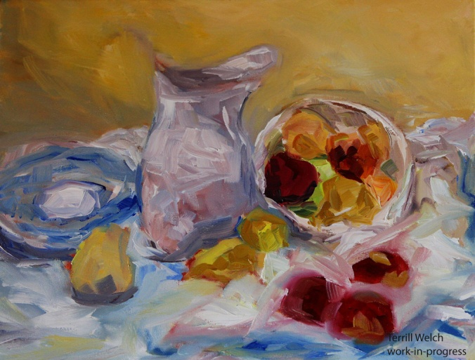 Pitcher Apples Pears in progess 2 by Terrill Welch 2013_10_17 104