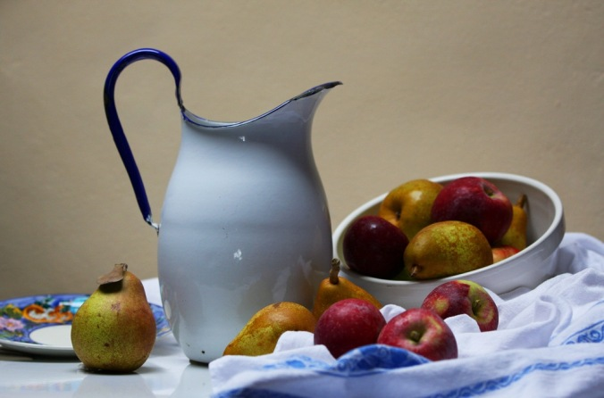 Pitcher with apples and pears still life by Terrill Welch 2013_10_17 030