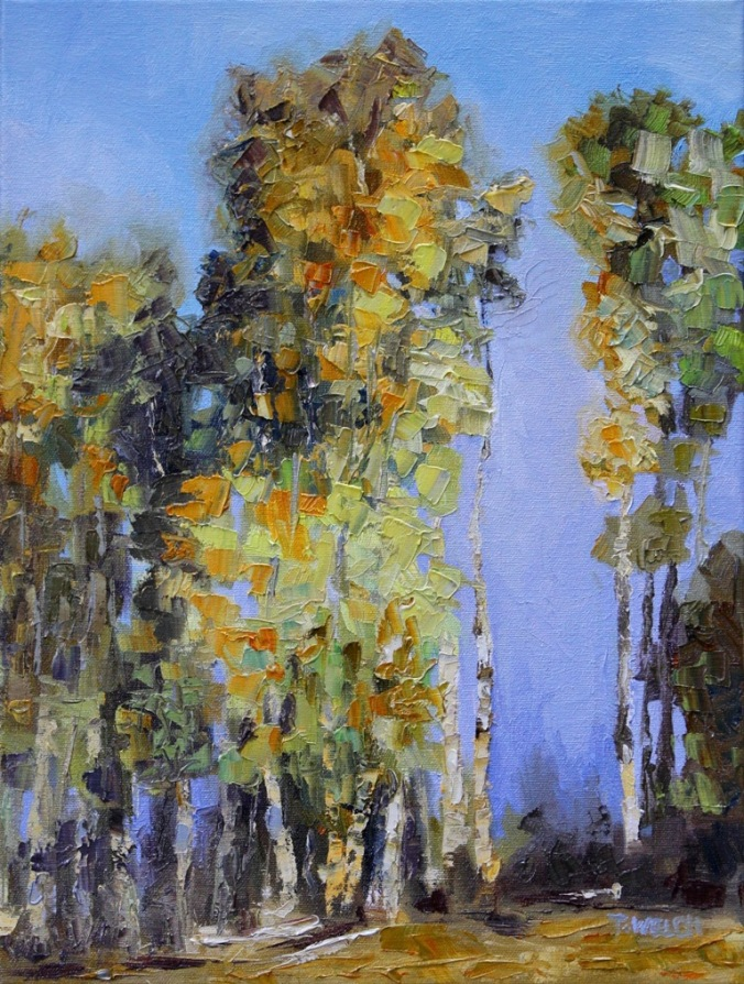A Tall Tale of Autumn Stuart River resting 16 x 12  inch oil on canvas by Terrill Welch 2013_12_12 019