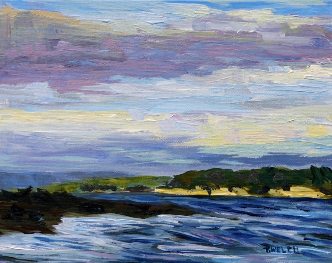 December Sea Vancouver Island study 8 x 10 inch acrylic on canvas panel by Terrill Welch 2013_12_18 007