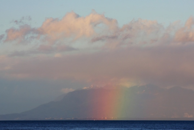 Rainbow in Pink Sky by Terrill Welch 2013_12_01 362