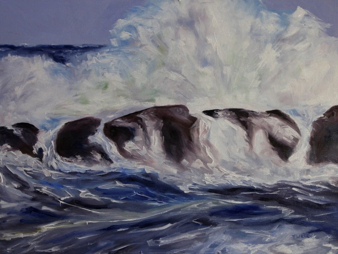 Storm Watching resting 30 x 40 inch oil on canvas by Terrill Welch 2013_12_08 021