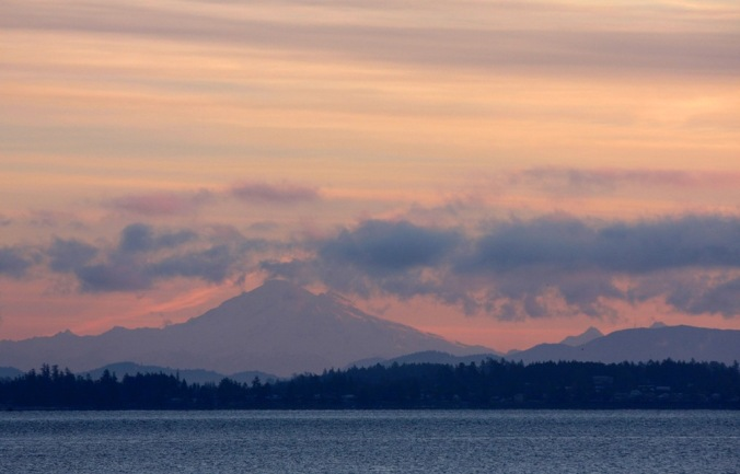 Mount Baker at Sunrise in Mill Bay by Terrill Welch 2014_01_05 020