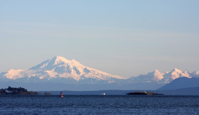 Mount Baker from Inside Passage by Terrill Welch 2014_01_05 088
