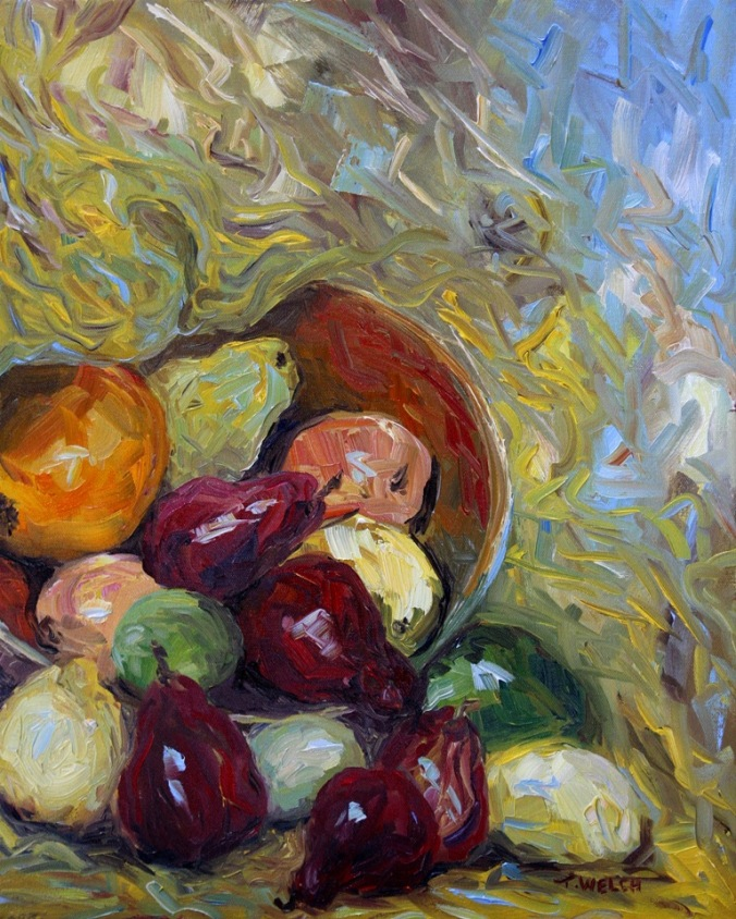 Tumbling Red Pears 2 resting 220 x 16  by Terrill Welch 2014_02_28 039