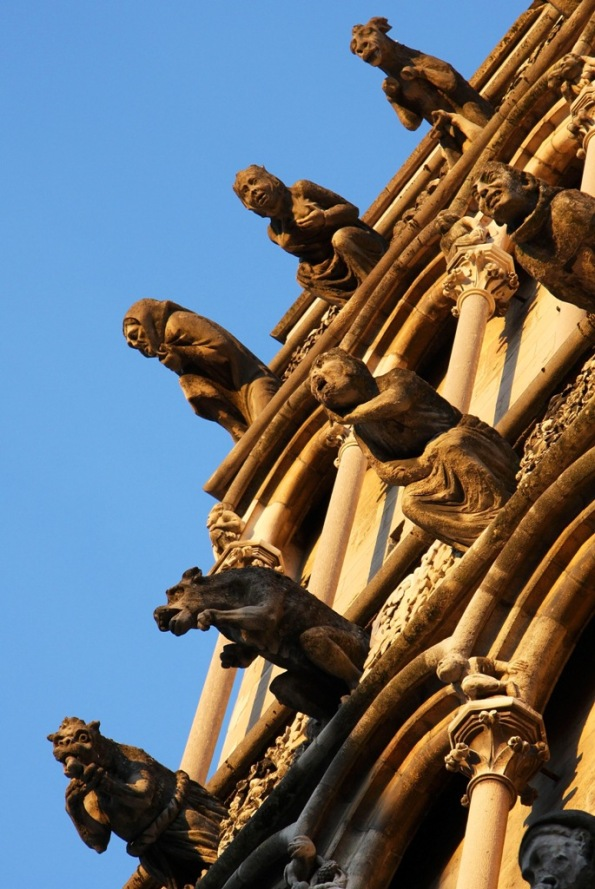 false Gargoyles from the side by Terrill Welch 2014_04_08 Dijon France 061