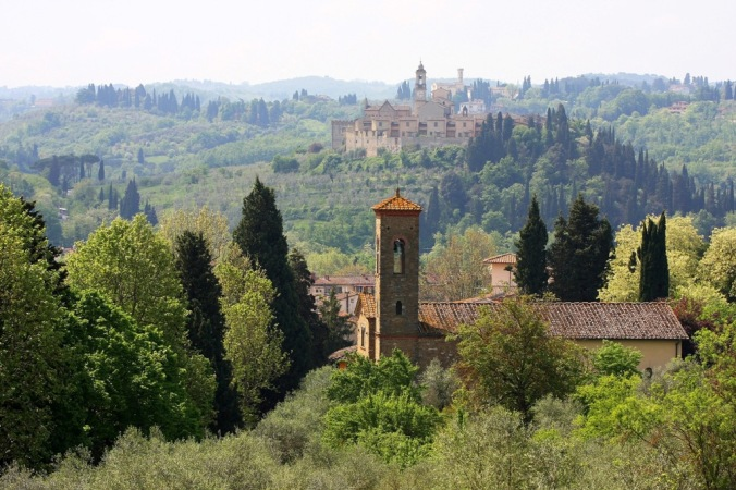 landscape of churches south of Florence Italy by Terrill Welch 2014_04_24 121