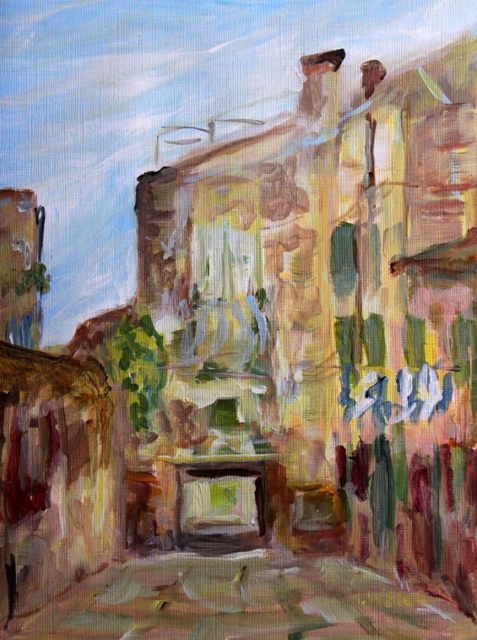 Low Entry Venice Italy 18 x 24 cm plein air acrylic painting sketch linen finish paintblock by Terrill Welch 2014_04_18 060
