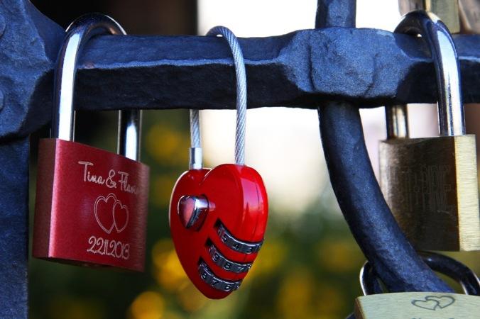 ove locks on Basel Bridge Switserland  by Terrill Welch 2014_04_13 123