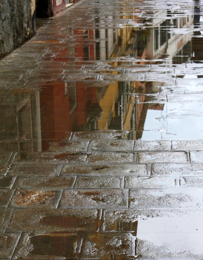 rain on the sidewalk of Venice by Terrill Welch 2014_04_21 003