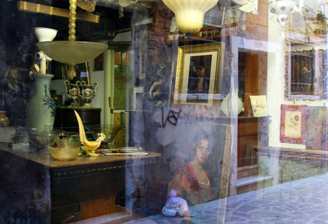 reflections in an antique shop window Venice Italy by Terrill Welch 2014_04_16 052