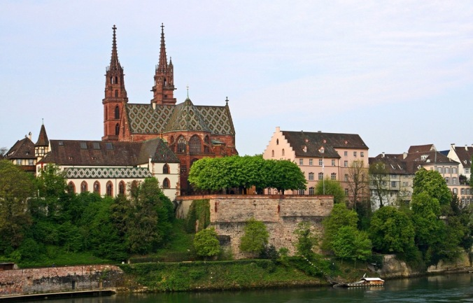 Rhine river by the Basel Minster in Switzerland by Terrill Welch 2014_04_13 027