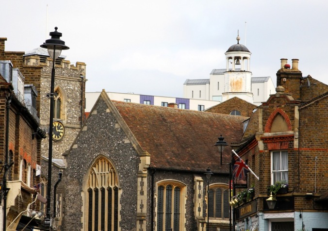 St. Margaret's Church parts of which date back to the 14th century Uxbridge England by Terrill Welch 2014_04_05 058