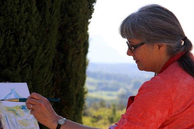 Plein Air pinting in Aix en Provence by Mme Miceli Brigitte 2014_05_18 109