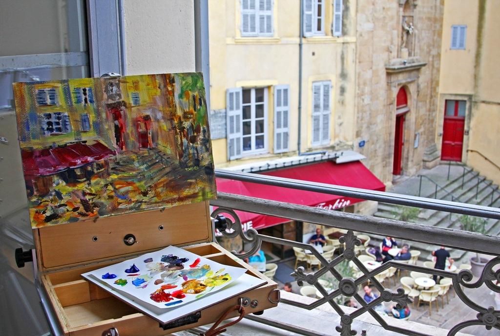 plein air window in Aix en Provence by Terrill Welch 2014_05_18 062