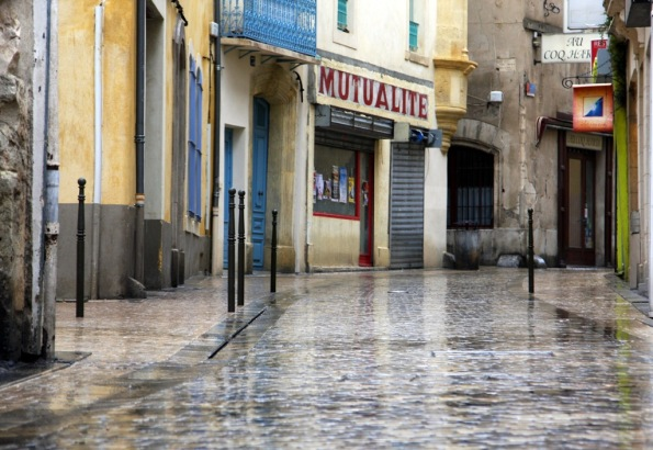 rain in streets of Narbonne France by Terrill Welch 2014_05_21 034