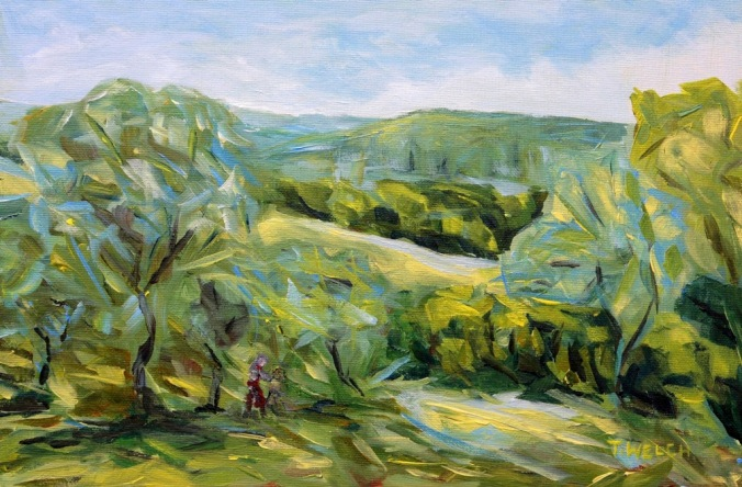 Spring in Tuscany 20 x 30 cm acrylic sketch on canvas board by Terrill Welch 2014_05_03 030
