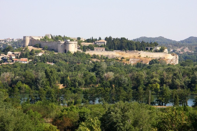 Over by Villeneuve lez Avignon France by Terrill Welch 2014_06_012 093