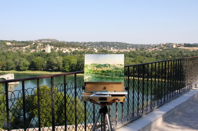 plein air morning in Avignon by Terrill Welch 2014_06_012 087