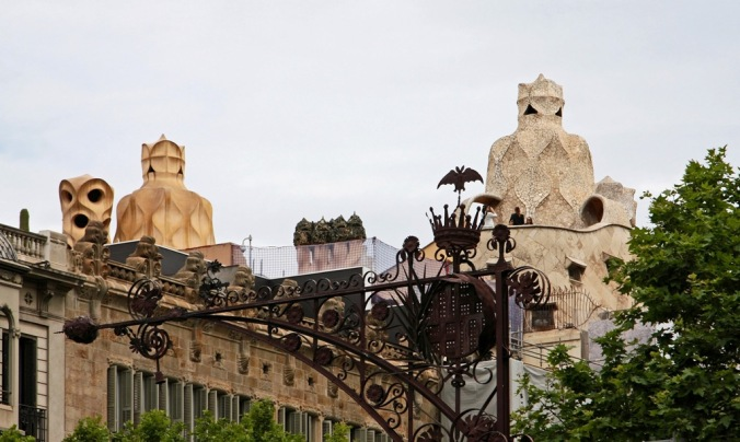 roof top of Casa Mila by Terrill Welch 2014_05_29 012