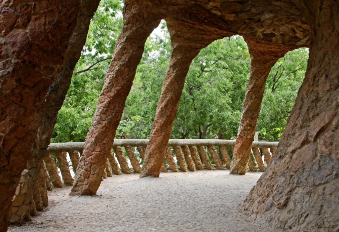 Stretching Park Guell Barcelona Spaint by Terrill Welch 2014_05_27 119