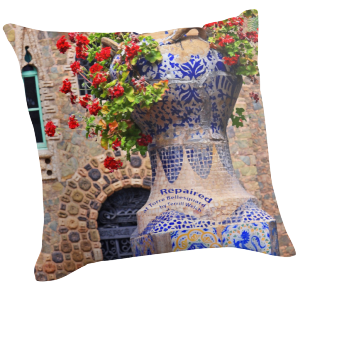 Throw Pillow Repaired Large 20 x 20 inch by Terrill Welch