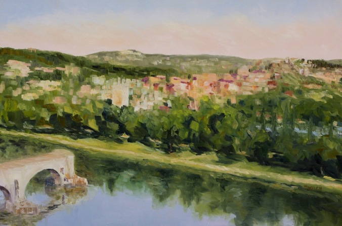 Villeneuve lez Avignon France 24 x 36 inch oil on canvas by Terrill Welch 2014_07_16 030
