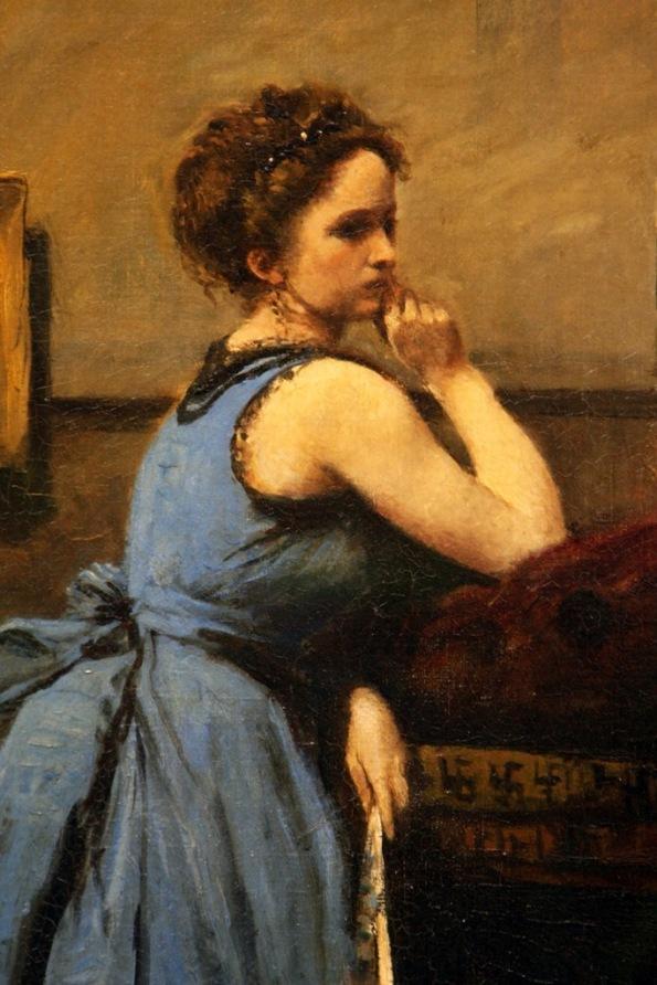 detail La Dame en Bleu 1874 by Camille Corot by Terrill Welch 2014_06_16 118