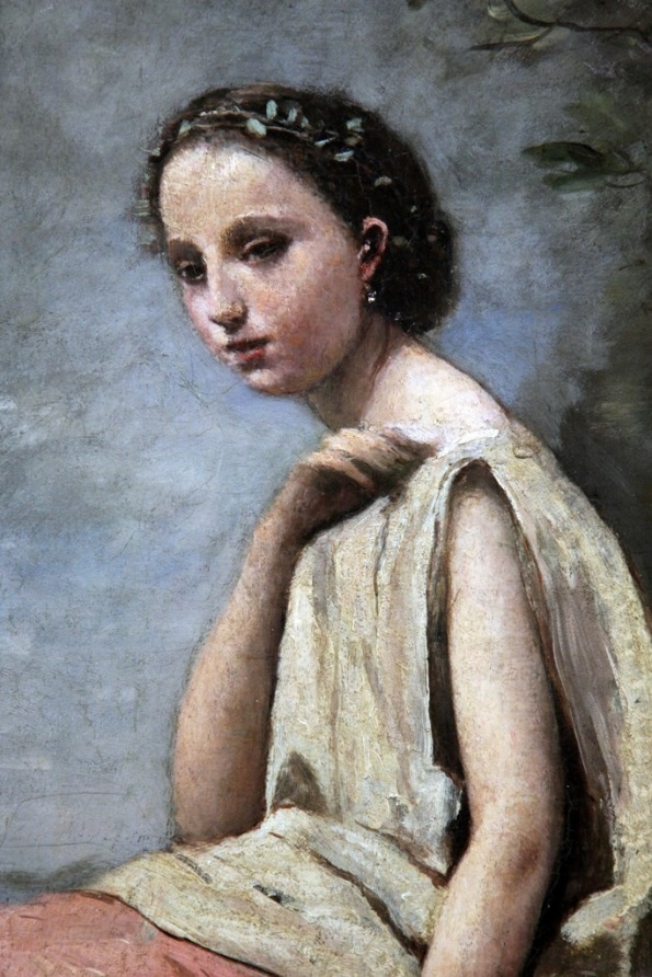 detail Zingara au tambour de basque 1865 to 1870 by Camille Corot photo by Terrill Welch 2014_06_16 110