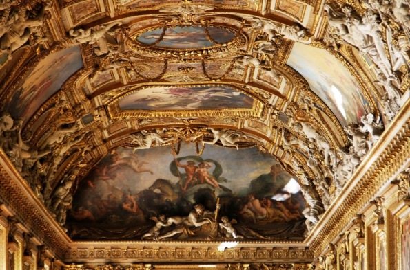 morning sun on Napoleon III Apartments ceiling Louvre France by Terrill Welch 2014_06_16 021