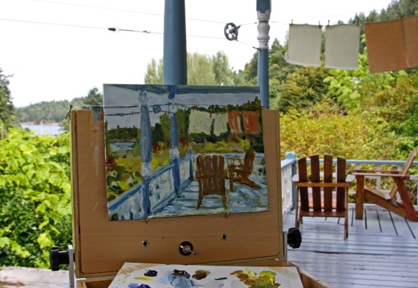 Plein Air painting at Breezy Bay BnB by Terrill Welch 2014_08_15 213
