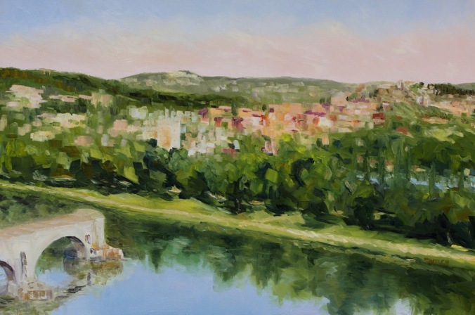 Villeneuve lez Avignon France 24 x 36 inch oil on canvas by Terrill Welch 2014_08_08 069