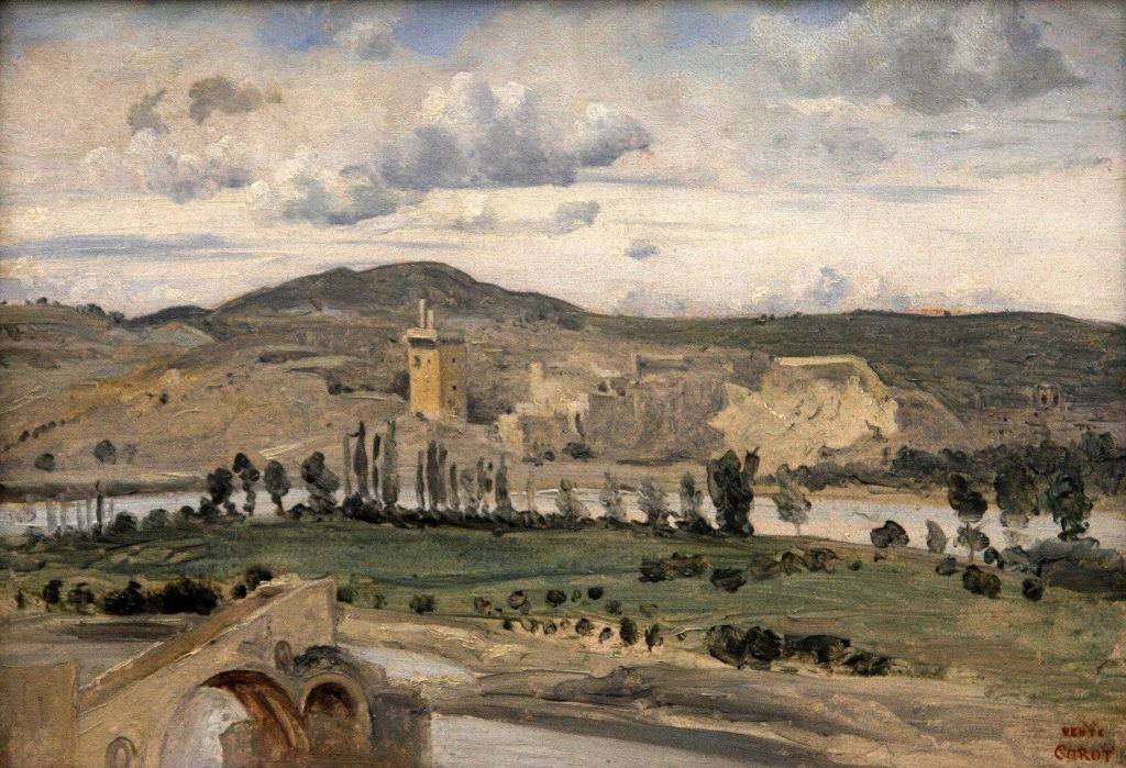 Villeneuve-lez-Avignon La Tour Philippe le Bel 1843 by Camille Corot photo for study by Terrill Welch 2014_06_16 033