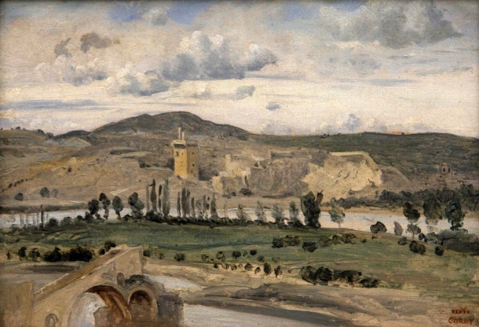Villeneuve-lez-Avignon La Tour Philippe le Bel 1843 by Camille Corot photo for study by Terrill Welch 2014_06_16 033
