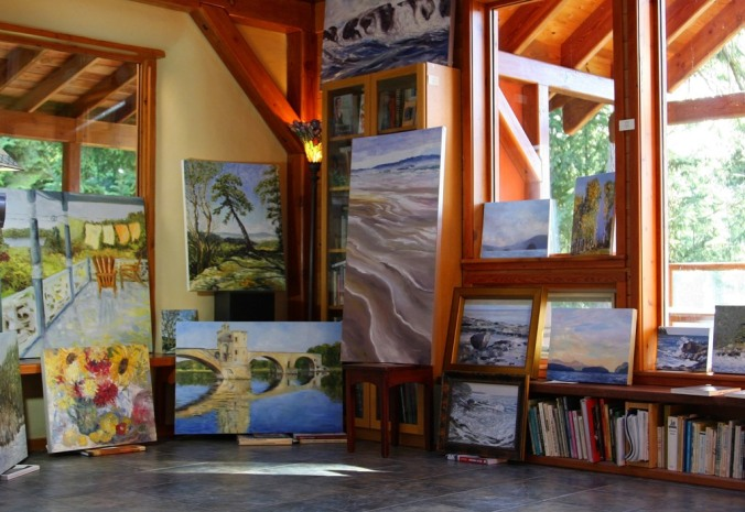 Open Studio online and in-person event Nov 8 and 9 2014 Great Room by Terrill Welch 2014_11_07 013