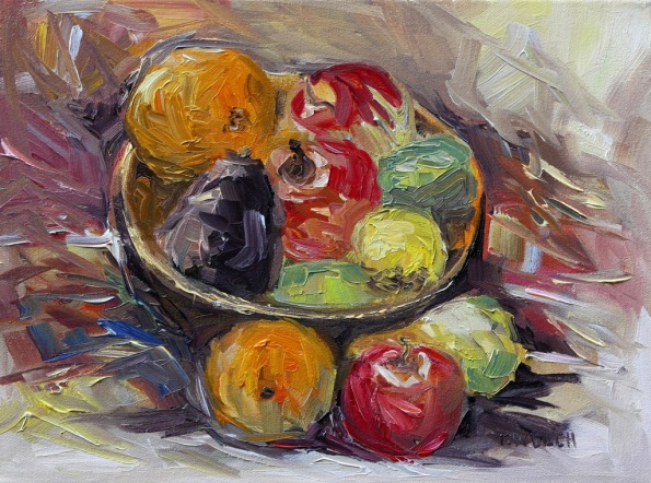 Bowl of Winter Fruit by Terrill Welch 12 x16 inch oil on canvas 2014_02_08 099