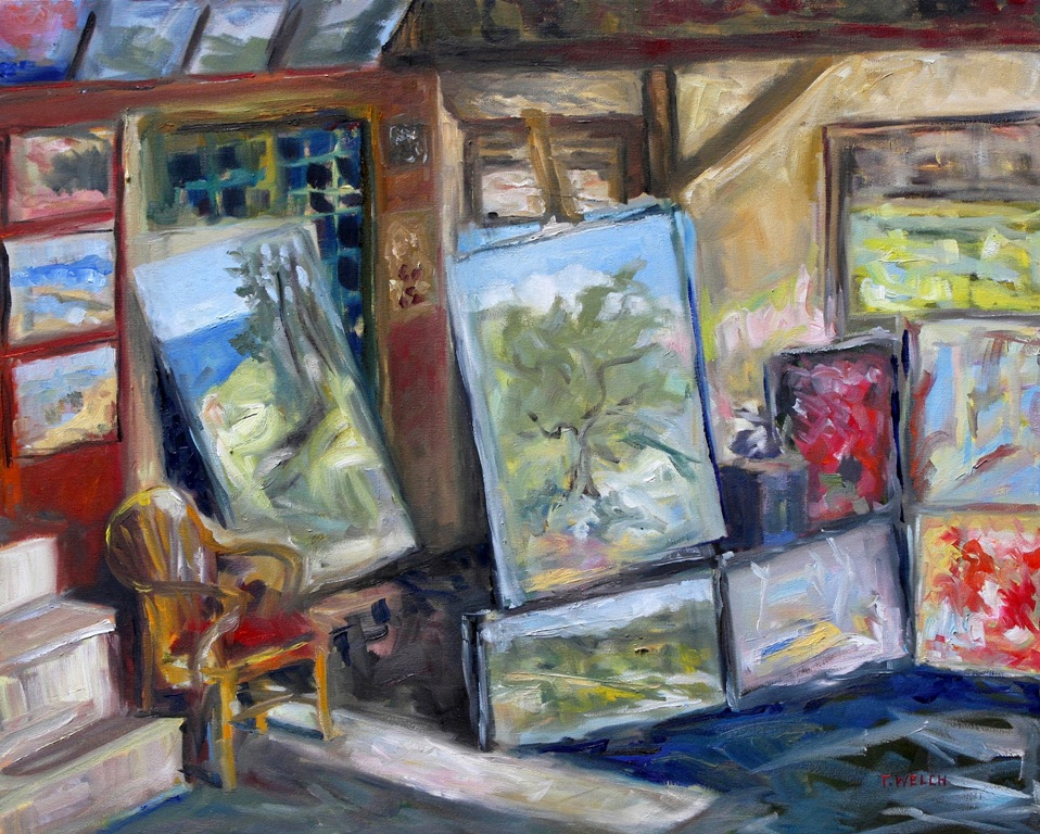OPEN STUDIO 24 x 30 inch oil on canvas by Terrill Welch 2015_01_01 267